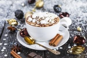 кофе с маршмеллоу и шоколадом