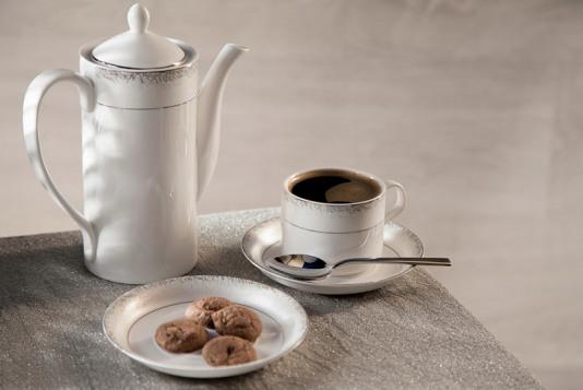 Кофейный сервиз Royal Aurel Иней на 6 персон
