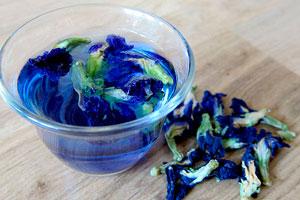Полезный тайский синий чай