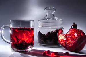 лечебный чай из лепестков и зерен граната