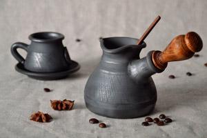 турка для кофе из исинской глины