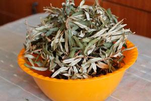 чай из сушеных листьев облепихи