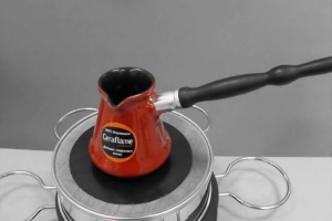 как пользоваться керамической туркой на индукционной плите