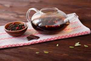 Чай с брусникой и баданом