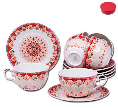 Набор чайных пар Patricia Восточные мотивы на 6 персон