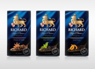 История королевского чая Ричард, виды, отзывы